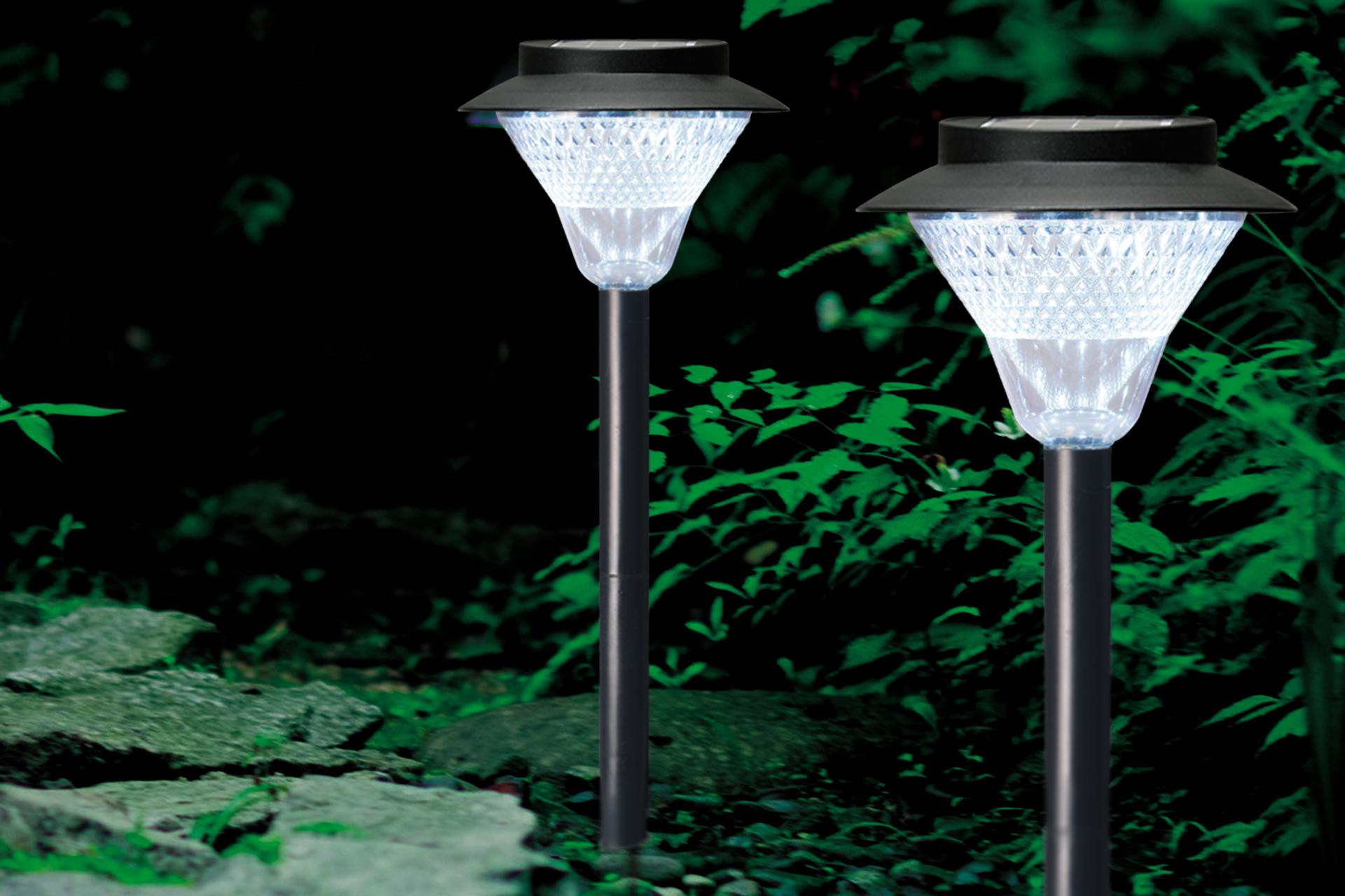 ソーラー式 8LED ガーデンライト
