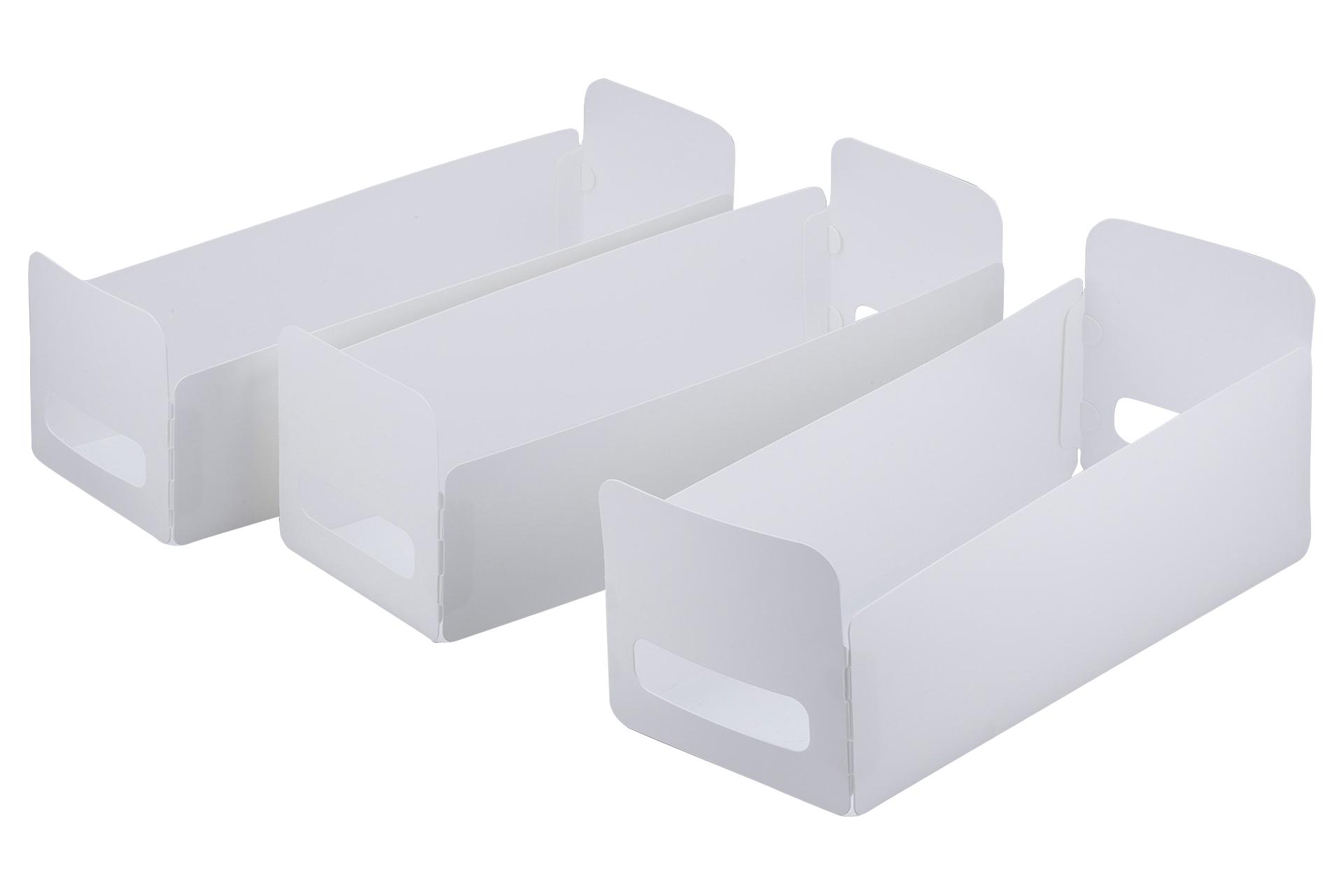 組立て簡単収納BOX ロング 3個組